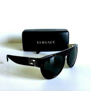 New Versace Brown Gold Sunglasses Mod 4333